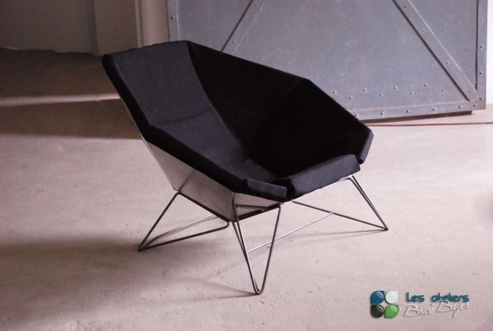 les ateliers brice bayer fauteuils et chaises chaise ou canap fauteuil loft en tole d 39 acier. Black Bedroom Furniture Sets. Home Design Ideas