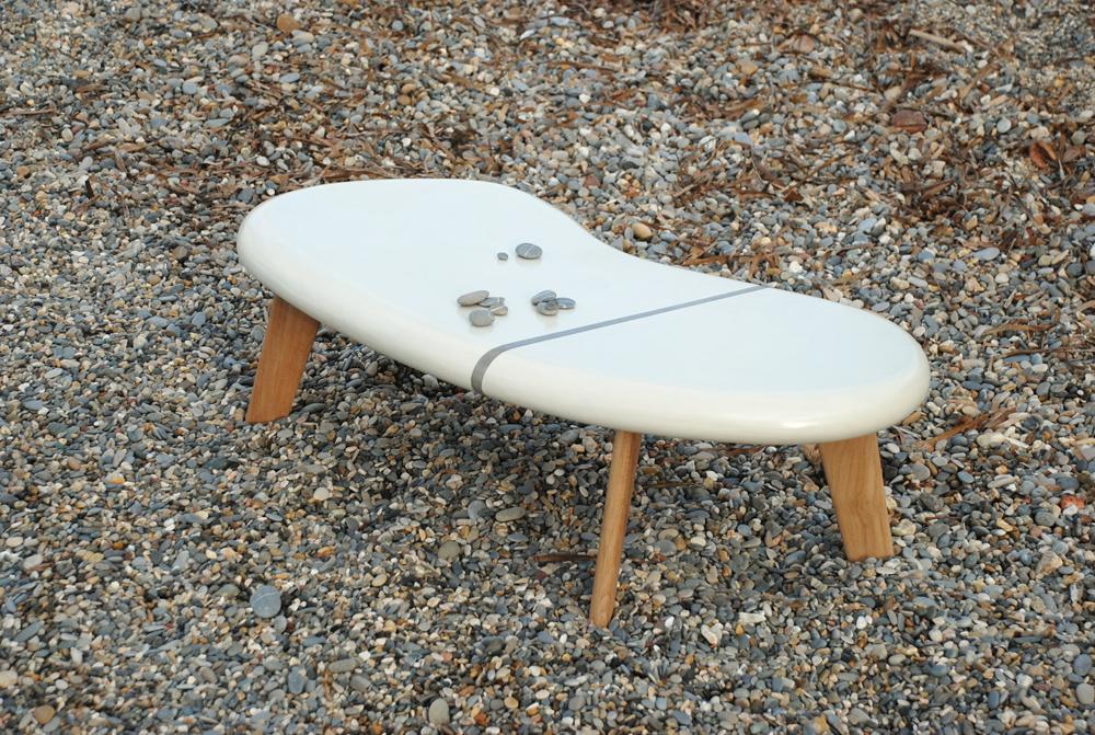 Les Ateliers Brice Bayer  Tables et bureaux Vertigo, table en béton cirée e